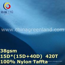 Tela impermeável de nylon respirável do tafetá da manta para a roupa de Lycras (GLLML278)