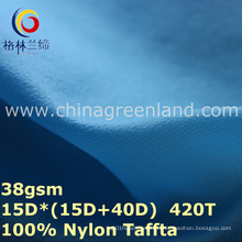 Дышащий плед нейлон Тафта водонепроницаемой ткани для лайкры одежда (GLLML278)