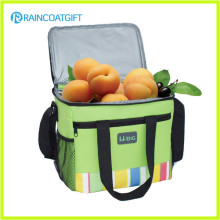 Bolsa de refrigerador de almuerzo de poliéster aislada con bolsillo delantero