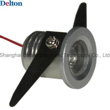 Luz del punto del gabinete del LED de Delton 1W mini redondo (DT-CGD-018B)