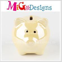 Atacado New Year Gift Ceramic Piggy Coin Bank para crianças