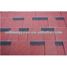 Tipo de tejas de techo simple y material de fibra de vidrio y asfalto Tejas de asfalto rojo