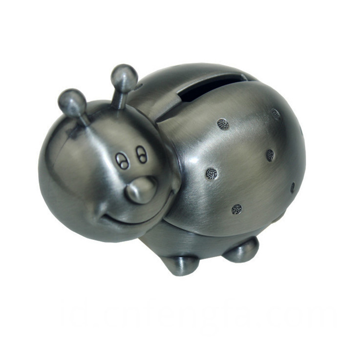 die casting metal lovely ladybird shape coin bank