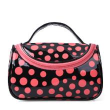 Lady Fashion Dotted Mirror PVC Cosmetic Makeup Washing Bag (YKY7513)