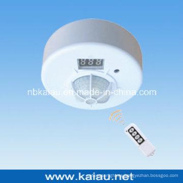 Montaje en techo de control remoto detector de movimiento PIR con control remoto (ka-wr01)
