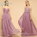 Pleat Sequined Beading Sexy Bridesmaid Dresses Long Chiffon