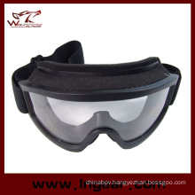Airsoft X500 Swat Tactical Goggle Glasses for Helmet Goggles Black