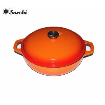 Factory Direct Cast Iron Enamel Shallow Casserole Dish
