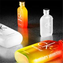 Oi esencial de impresión de la insignia de la botella de cristal personalizado