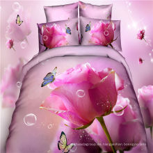 Hoja de ropa de cama textil hogar caliente Juego de ropa de cama impresa 3D
