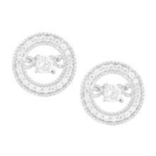 Boucles d'oreilles à bijoux en diamant 925 Silver Dancing