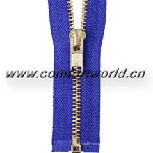 No 5 White Brass Zipper O/E a/L