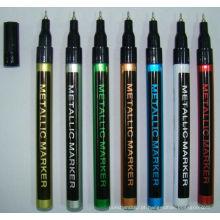 Marcador de tinta de barril fino com Design de cor de Metal de tinta legal