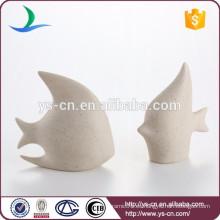 Peces de cerámica de moda mostrar piezas para la decoración del hogar