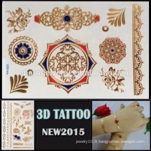 OEM gros 3d tatouage temporaire tatouage excellent design pour adultes haute qualité 3d temporaire YH 023