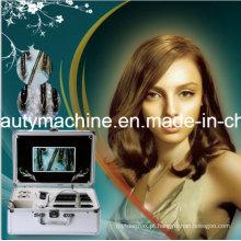 A máquina nova do teste da pele e do cabelo com tela de 7 polegadas analisa o analisador da pele da pele e do cabelo