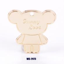 Colgante personalizado de la insignia de la decoración de la marca de fábrica para los bolsos