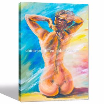 Mujeres que pintan arte / muchacha decoración atractiva de la pared de la imagen / pinturas al por mayor de la sala de estar
