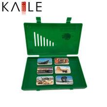 Пользовательские новый дизайн игры Домино с зеленой пластиковой коробке