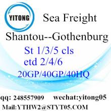 Shantou Container shipping to Gothenburg