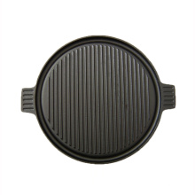round heavy-duty cast iron reversible griddle/roaster pan