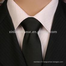 Cravate 100% fait main en microfibre noire