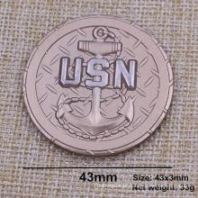 Custom Dual Plating Moeda Usn com 3D Design