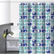 Baño impermeable cortina de ducha impresa para la cabina de ducha