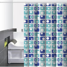 Rideau de douche imprimé pour salle de bain imperméable pour cabine de douche