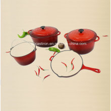 4PCS Cast Iron Cookware Set Ce Approved Factory