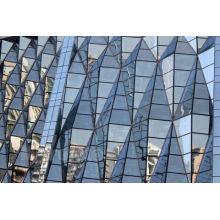 Prix de mur rideau en verre, profil de mur rideau, mur rideau en aluminium