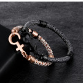 Stainless Steel Gender Symbol Clasp Python Leather Bracelet