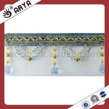 Plastic Beaded Trim Fringe for Curtain Accessory Home Textile