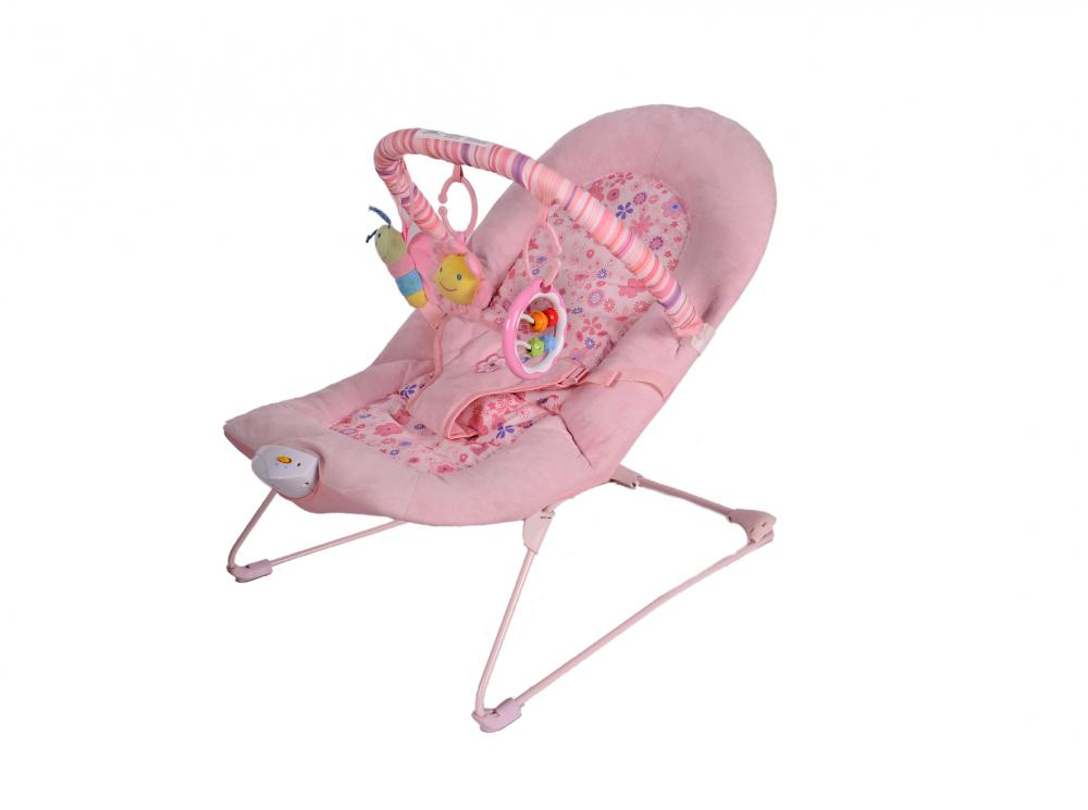 Soothing Vibrations Bouncer for Baby Comfortable with Hanging Toy