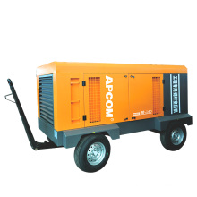 14bar 460CFM mobile 120hp portable screw 90kw electric air compressors mining HGD90-14D