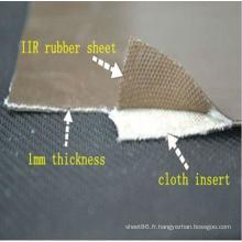 Bon rouleau de feuille de caoutchouc de résistance à l'usure avec l'insertion de tissu