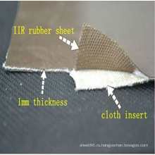 Хороший износ-сопротивление резиновый лист рулон с тканью вставки