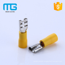 New yellow 24A PVC female spade connector sizes