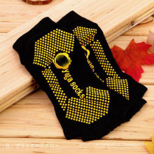 Personalizar o logotipo mulheres cinco Toe Toe meia antiderrapante Yoga meias