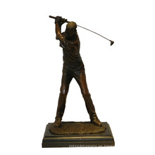 Estatua de latón de los deportes Jugador de golf talla de bronce Escultura Tpy-901