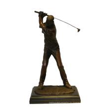 Спортивный Латунь Статуя Гольфист Резьба Бронзовая Скульптура Т-901