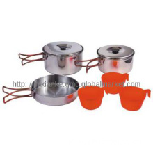 3-person stainless steel camping gadgets