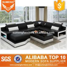 A mobília turca preta amigável do sofá da família personaliza o sofá