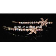 2015 Star Design Charmante glänzende Kristall Barrette Strass Bobby Pin