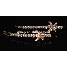 2015 Estrella Diseño Encantador Cristal Brillante Barrette Rhinestone Bobby pin