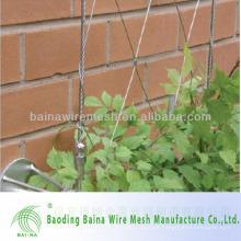 Red de malla de alambre de acero inoxidable para revestimiento de pared verde