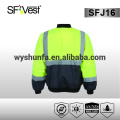 Chaqueta reflectante de seguridad chaqueta de color naranja negro chaleco de seguridad chaqueta softshell impermeable 300d oxford