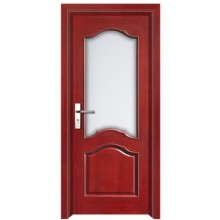 Porte intérieure en bois avec des insertions de verre