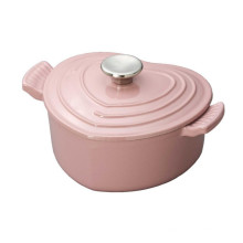 3.3 QT Enamel Heart-Shaped Cast Iron Casserole