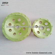 Pequeña rueda de rectificado PCD para la eliminación de revestimientos, pintura expoxy y pintura